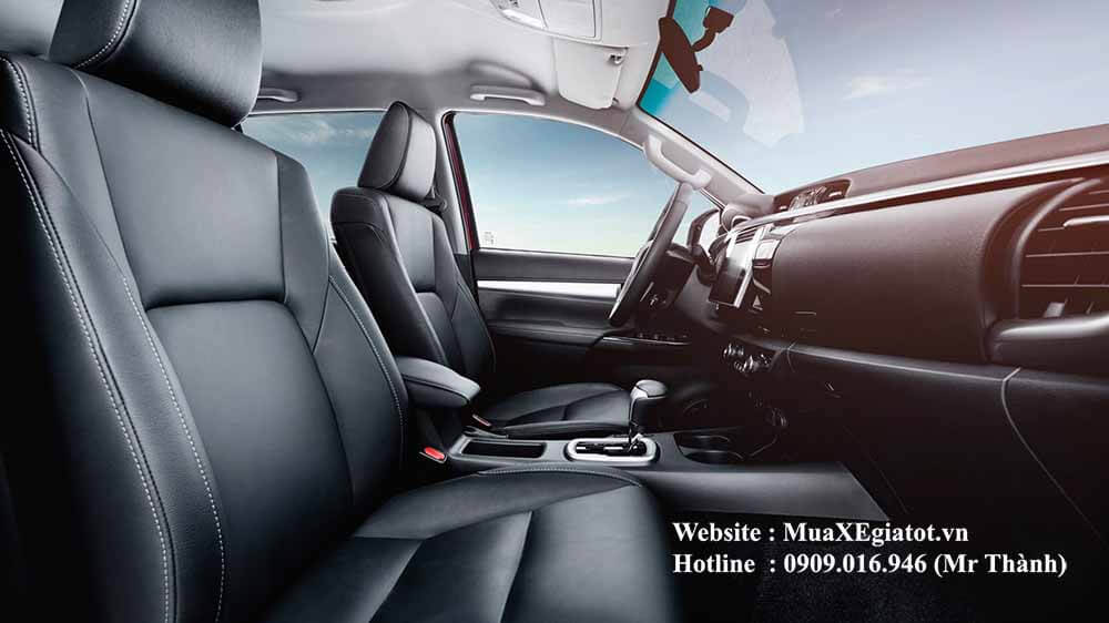 toyota hilux 2018 noi that hang ghe truoc Bật mí toàn tập về Toyota Hilux 2018