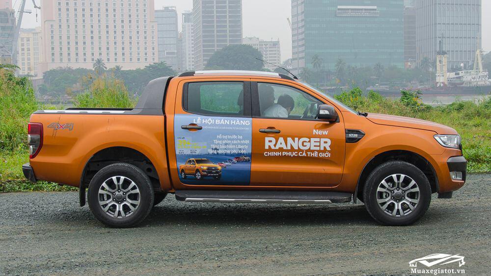 Ford Ranger 2018 hông xe