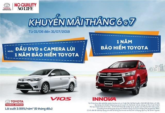 Khuyến mãi mua xe Vios và Innova tháng 6