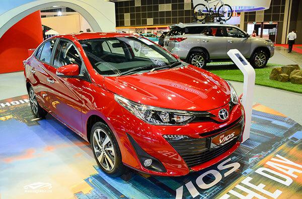 Toyota Vios 2018 được trang bị thêm màu đỏ thay vì 5 màu như phiên bản cũ (Đen,Bạc,Trắng,Vàng,Xám)