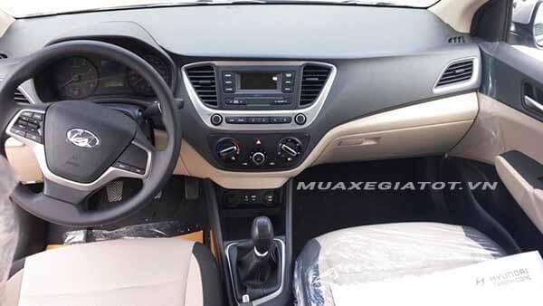 noi that hyundai accent 2018 14 mt base muaxegiatot vn So sánh Hyundai Accent MT và Vios E MT 2021 mới