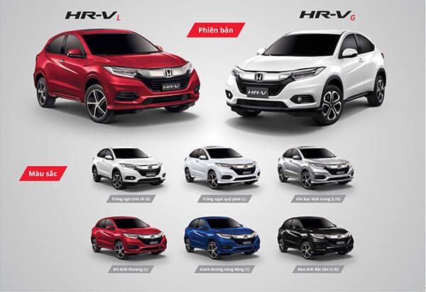 Màu xe Honda HR-V 2019 tại Việt Nam