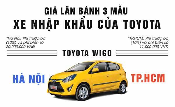 Tính giá lăn bánh Toyota Wigo,Avanza,Rush 2019 như thế nào?