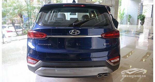 duoi xe hyundai santa fe 2019 viet nam muaxenhanh vn 3 Đánh giá xe Hyundai Santafe 2021 kèm giá bán #1