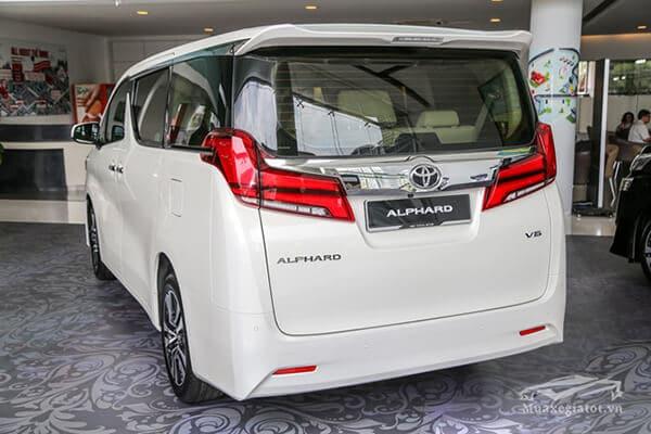 Đuôi xe Toyota Alphard 2019 Luxury, Giá xe Alphard 2019, Đánh giá xe Alphard 2019
