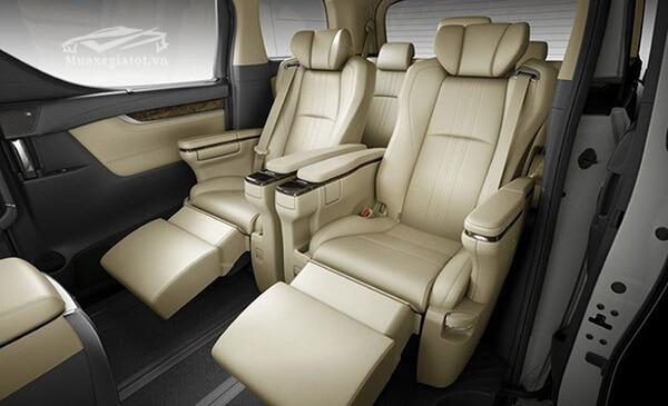 Ghế ngồi thương gia trên xe Toyota Alphard 2019 Luxury, Giá xe Alphard 2019, Đánh giá xe Alphard 2019