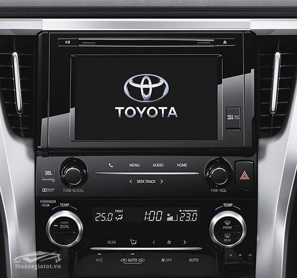 Hệ thống giải trí trên xe Toyota Alphard 2019 Luxury, Giá xe Alphard 2019, Đánh giá xe Alphard 2019