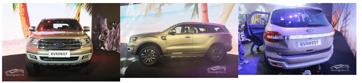 ngoai that ford everest 2019 muaxegiatot vn So sánh nhanh Toyota Fortuner, Ford Everest và Chervrolet Trailblazer