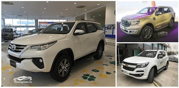 So sánh nhanh Toyota Fortuner, Ford Everest và Chervrolet Trailblazer