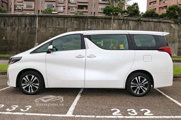 Hông xe Toyota Alphard 2019 Luxury, Giá xe Alphard 2019, Đánh giá xe Alphard 2019
