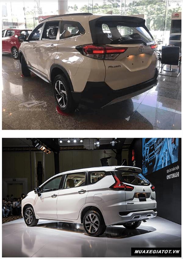 so sanh toyota rush va xpander 2019 muaxenhanh vn 4 So sánh Toyota Rush 1.5AT và Mitsubishi Xpander 1.5 AT