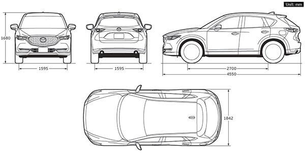 kich thuoc xe mazda cx5 2019 muaxegiatot vn 19 Đánh giá xe Mazda CX5 2021 thế hệ mới