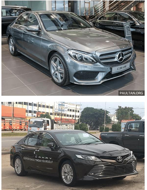 c200 2019 va toyota camry 2019 25q muaxenhanh vn 2 1 So sánh Mercedes C200 và Toyota Camry 2.5Q 2021