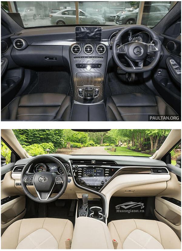 c200 2019 va toyota camry 2019 25q muaxenhanh vn 4 1 So sánh Mercedes C200 và Toyota Camry 2.5Q 2021