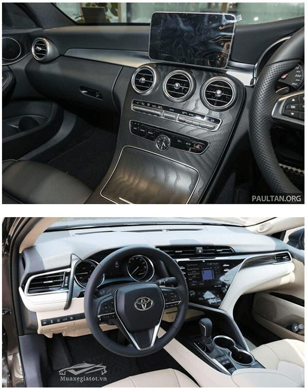 c200 2019 va toyota camry 2019 25q muaxenhanh vn 6 So sánh Mercedes C200 và Toyota Camry 2.5Q 2021