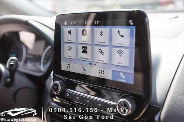 Hệ thống thông tin giải trí trên xe Ford EcoSport 2020 được đánh giá cao về mặt công nghệ khi sở hữu