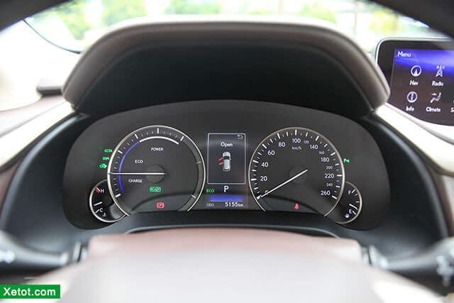 dong ho hien thi xe lexus rx 450h 2020 muaxegiatot vn Đánh giá xe Lexus RX 450h 2021 kèm giá bán khuyến mãi #1