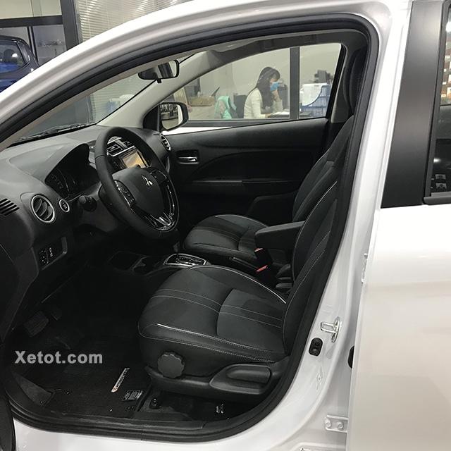 hang ghe truoc mitsubishi attrage 2020 muaxegiatot vn 1 Nên mua xe Hyundai Grand i10 Sedan 2021 hay Mitsubishi Attrage 2021