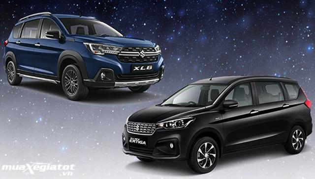 suzuki xl7 vs ertiga 2020 2021 muaxegiatot vn 1 Nên mua xe 7 chỗ Suzuki Ertiga hay 7 chỗ Suzuki XL7?