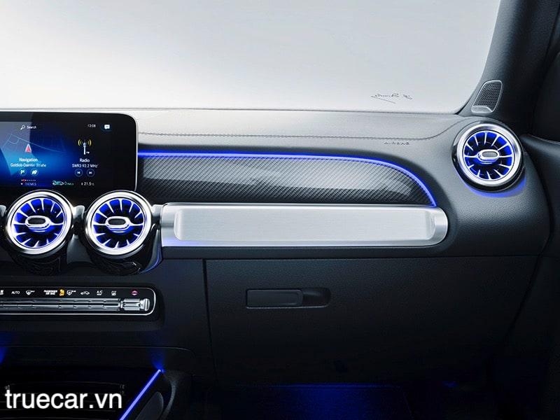 op van soi carbon mercedes glb 200 2021 amg truecar vn Đánh giá xe Mercedes GLB 200 AMG 2021, Xe 7 chỗ hạng sang giá dưới 2 tỷ