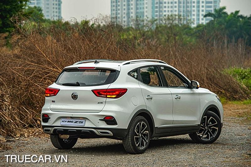 duoi xe mau trang MG ZS 2021 TRUECAR VN Đánh giá xe MG ZS 2021 - Mẫu xe dành cho giới trẻ năng động