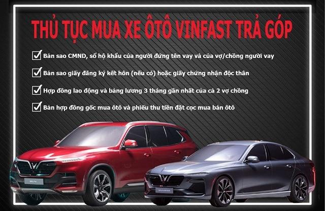 thu tuc mua xe vinfast tra gop muaxegiatot vn Giới thiệu các chương trình hỗ trợ mua xe trả góp của Vinfast
