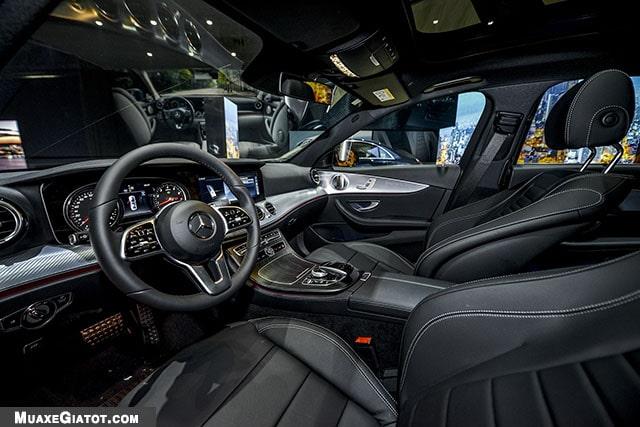 ghe truoc mercedes benz e200 sport 2020 muaxegiatot com Đánh giá xe Mercedes E200 Sport 2021 - Giá cả phải chăng