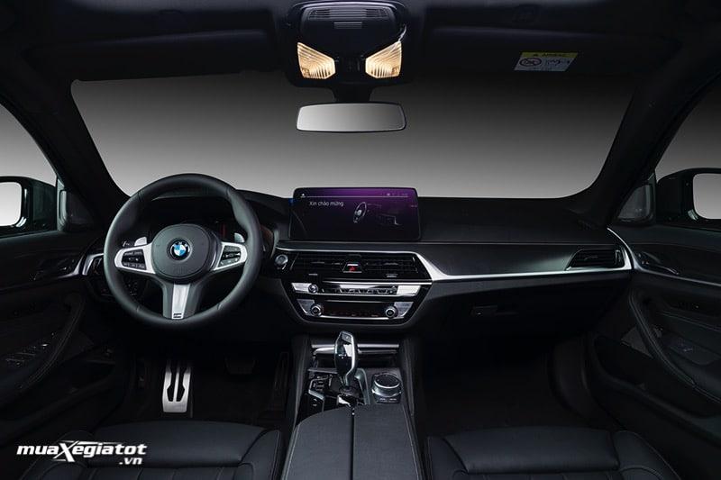 Noi that xe BMW 5 Series 2022 giaxehoi vn Đánh giá xe BMW 5 Series 2022 LCI: Thay đổi để dẫn đầu